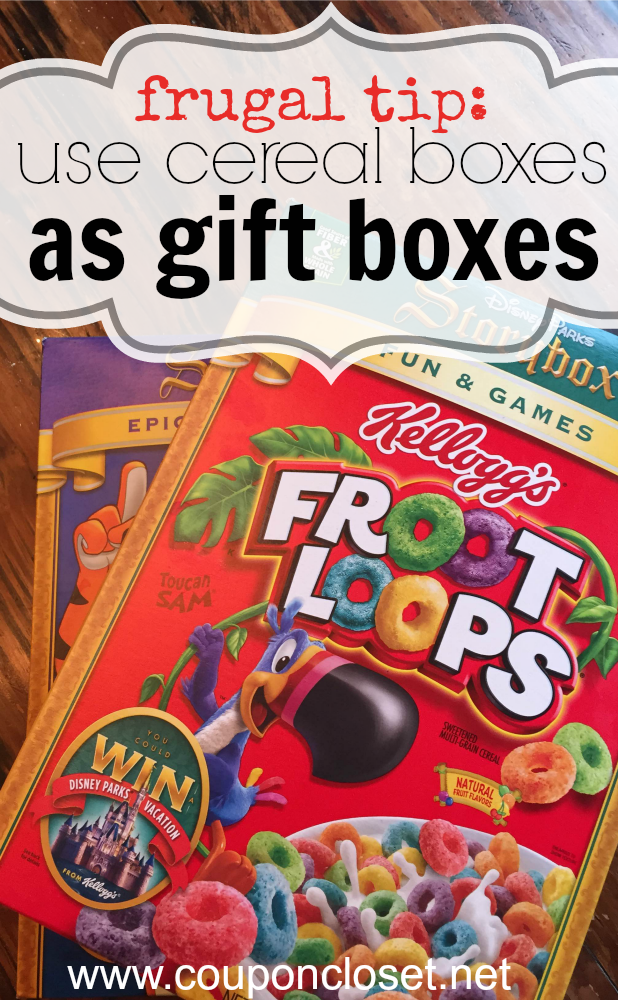 frugal tip - use cereal boxes