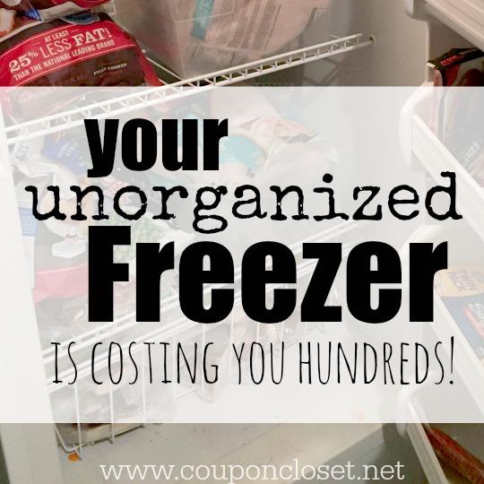 unorganized freezer - costing money