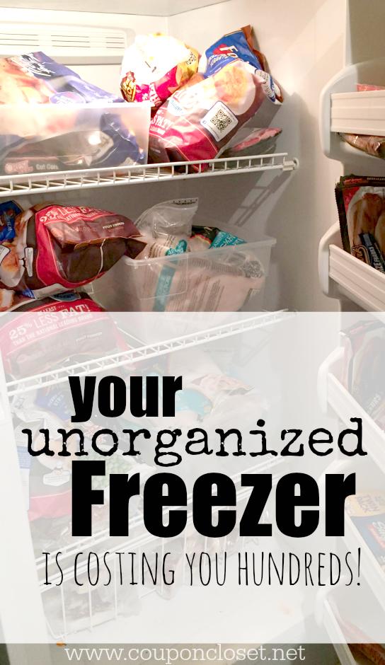 unorganized freezer costing you money