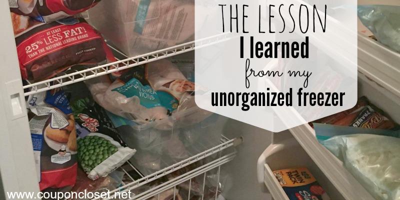 unorganized freezer