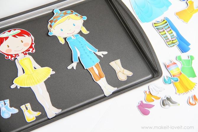 diy magnetic paper dolls frugal diy make your own magnetic paper dolls coupon closet