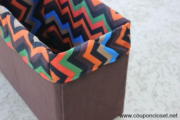 lined basket close up