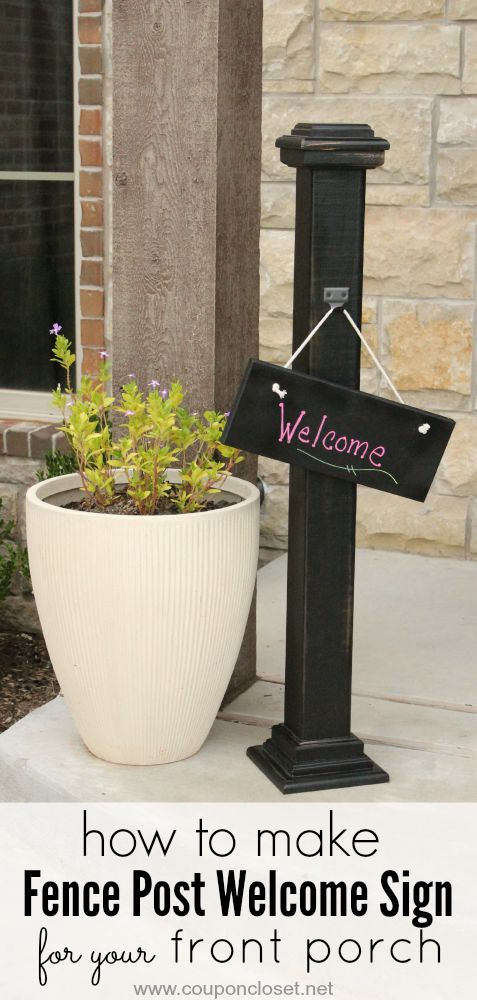 Frugal Diy Homemade Welcome Sign For Your Front Porch