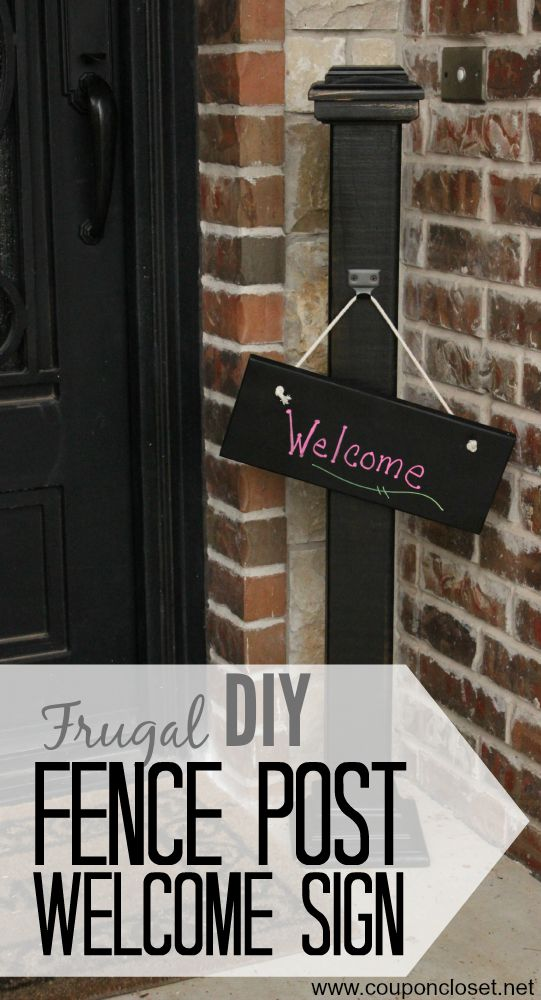 frugal diy welcome sign