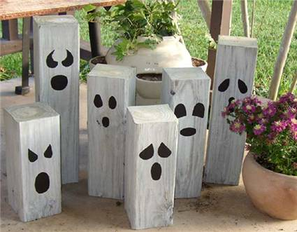 diy homemade garden ghosts one crazy mom. Black Bedroom Furniture Sets. Home Design Ideas