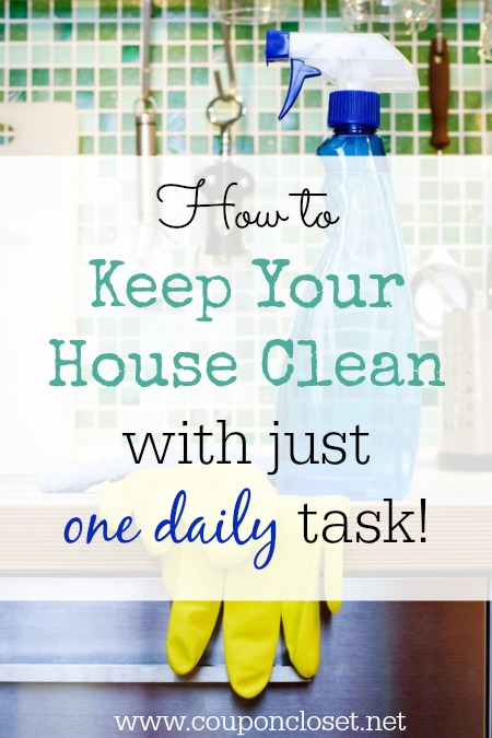 Keep your house clean with one daily task - so easy to do!