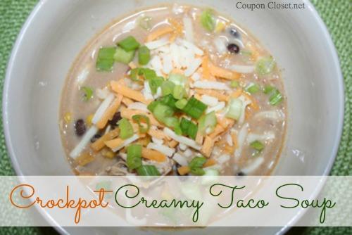 Crockpot Creamy Taco Soup