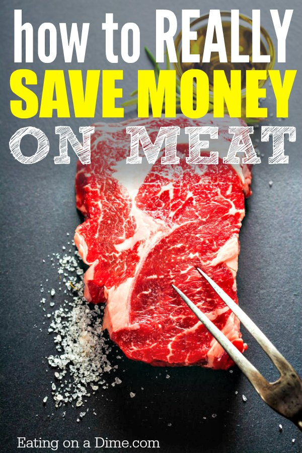 How to really save money on meat. Try this strategy to save on meat. Buy in bulk to save money on your grocery budget. It is an easy way to save money.