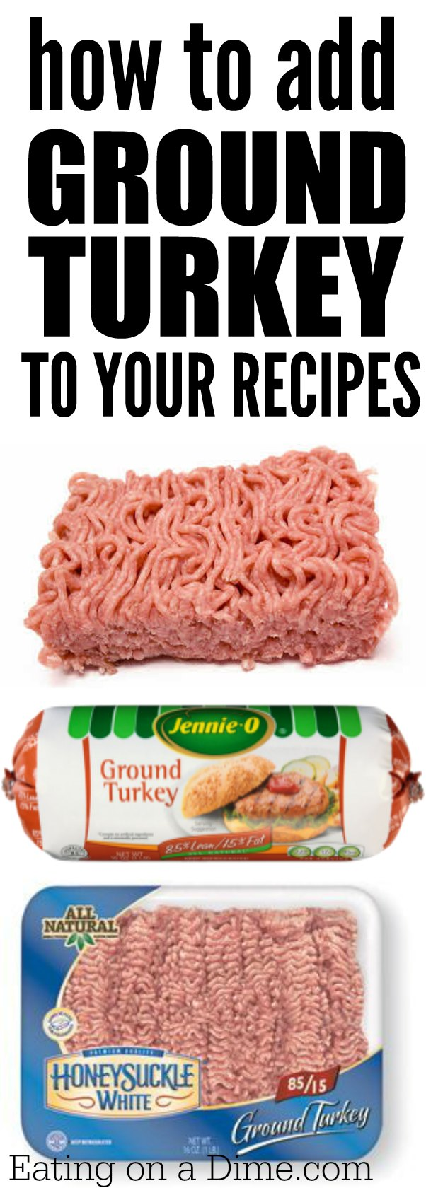 how to add ground turkey to your recipes