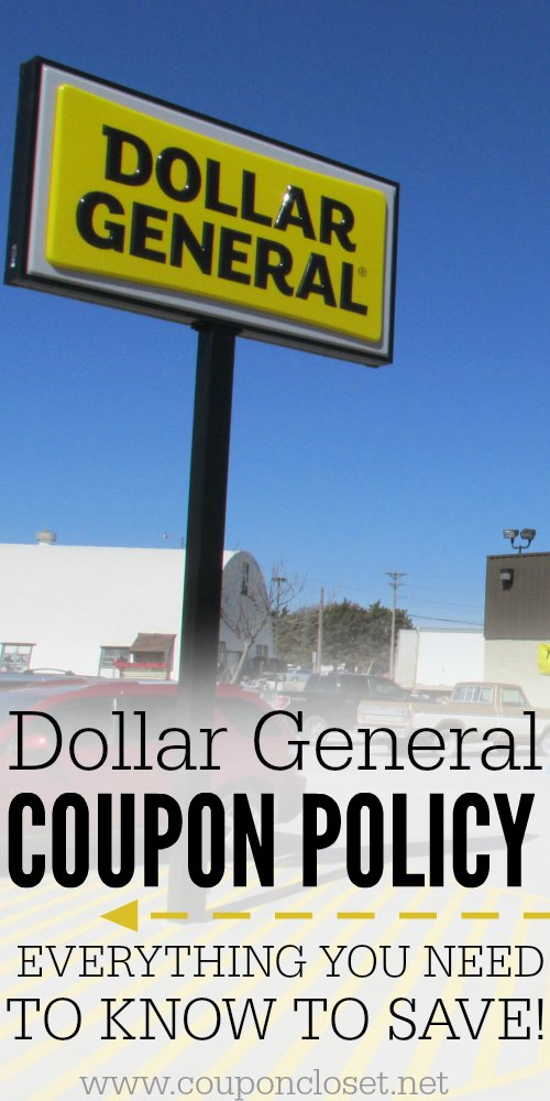 dollar general coupon policy