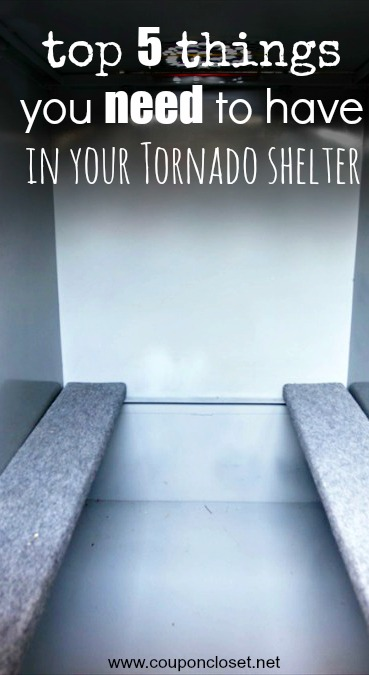 top 5 things to keep in your tornado shelter