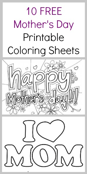 we have a list of free mothers day coloring pages that the kids can color for - Mothers Day Coloring Pages