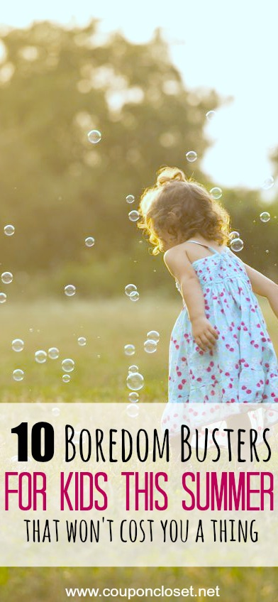Here are 10 free summer activities for kids that they are going to love. These fun ideas for Summer are easy and frugal boredom busters. Try one of these fun things to do during Summer to keep Summer enjoyable!