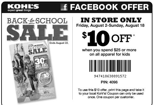 Ebay kohl's coupon 10 off 25