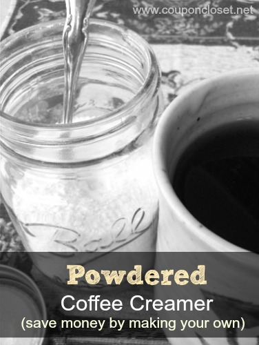 powdered coffee creamer - save money