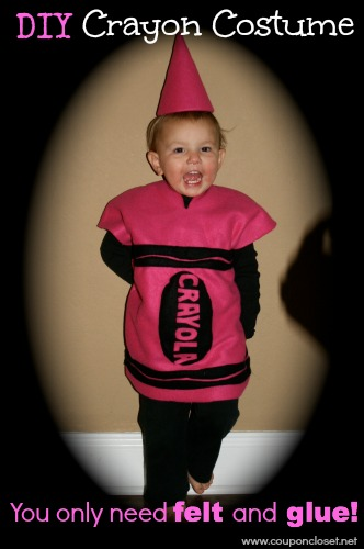 How To Make A Crayon Costume Cost Only 5 One Crazy Mom