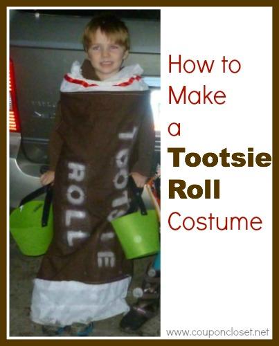 homemade tootsie roll costume
