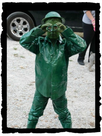 DIY Green Army Soldier costume