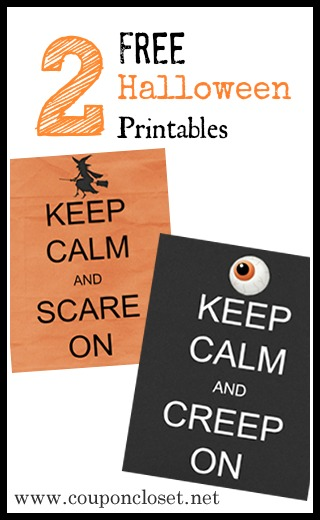 free halloween printable - keep calm