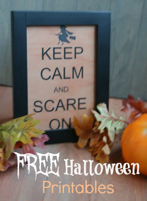 free halloween printables- keep calm