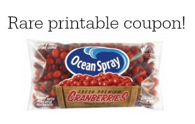 ocean spray cranberries coupon