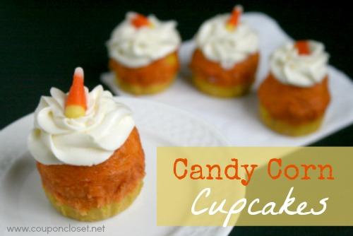 delicious candy corn cupcakes