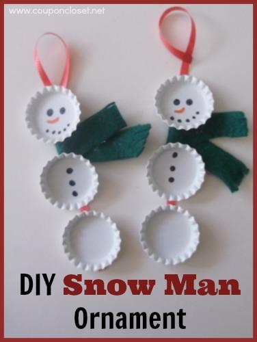 diy snow man ornament