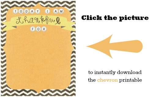 download chevron thankful printable
