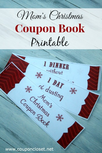 mom's christmas coupon book printable