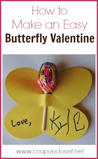 How to make an easy Butterfly Valentine