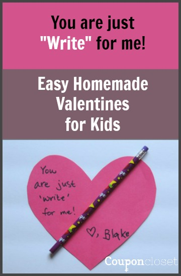You are just write for me Valentine for kids idea