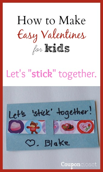 Download and print this easy Printable Valentines Day Cards - Let's stick together is a cute and easy valentines day card idea. Just print, add stickers, and your kids have the cutest Valentines without all the work or money.