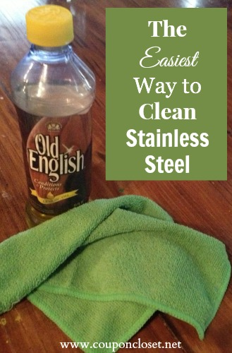 the easiest way to clean stainless steel