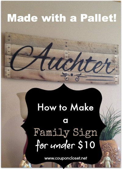 family sign for under $10