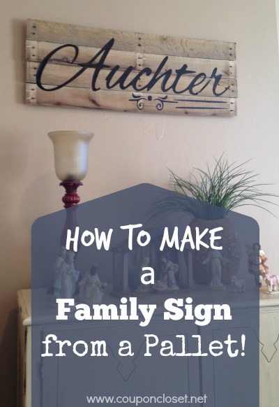 how to make a family sign from a pallet