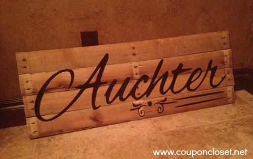 how to make a pallet name sign