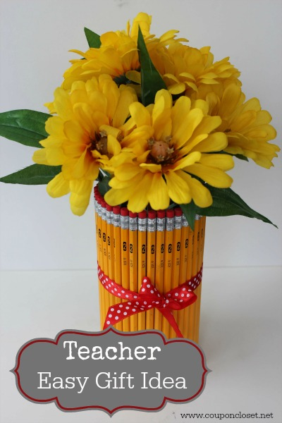 Easy Teacher Gift idea - pencil vase