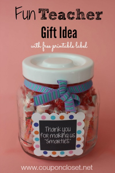Cute smarties teacher gift idea thank you for making us for Gifts u can make