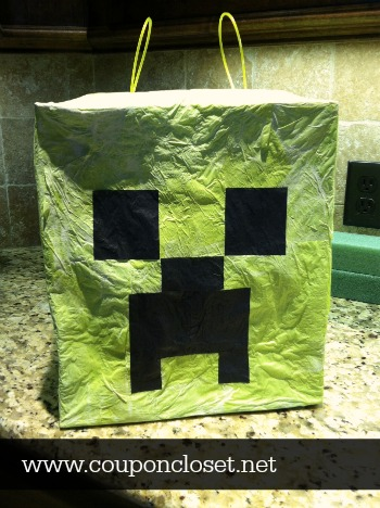 how to make a minecraft pinata for a minecraft birthday party