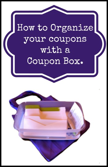how to organize with a coupon box