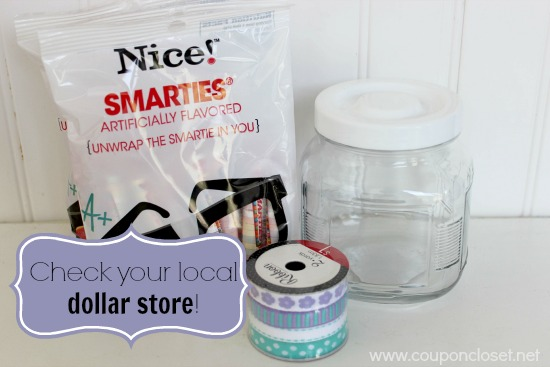 smarties teacher gift - check your local dollar store to save money