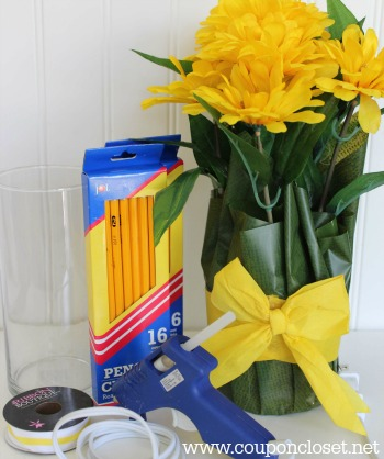 supplies for pencil vase