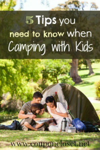 Do you like to camp Do you want to take your kids camping Read my 5 tips to help you when camping with kids