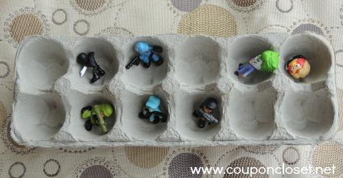 egg carton small toys