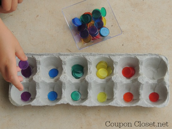egg carton sorting game