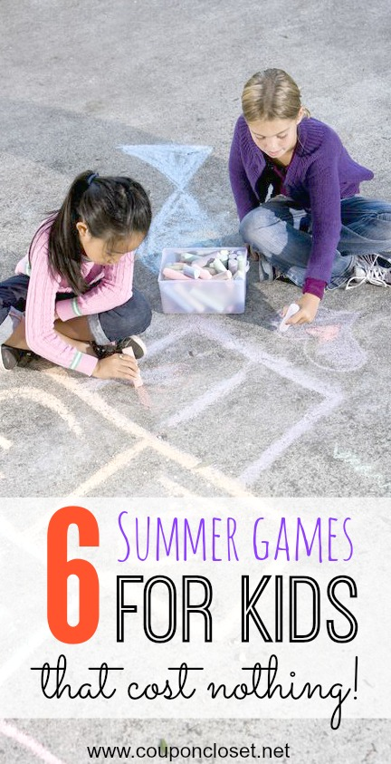 Keep those kids busy with these fun Summer Games for Kids that will cost you nothing! These are also outdoor activities for 4 year olds and almost any age. Try one of these activities for kids during Summer.