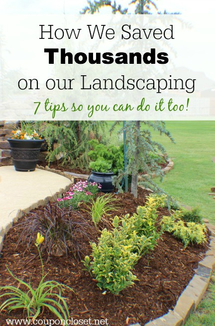 save on landscaping with these easy tips
