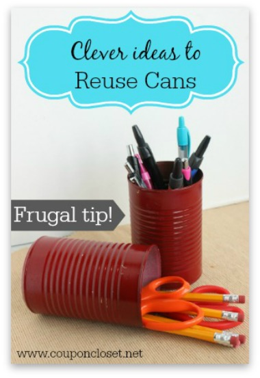 7 wasy to reuse cans through your home