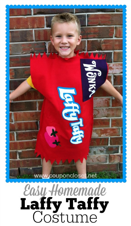 learn how easy it is to make this laffy taffy costume for halloween