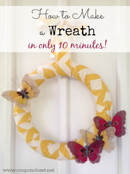 easy scrap fabric wreath in only 10 minutes